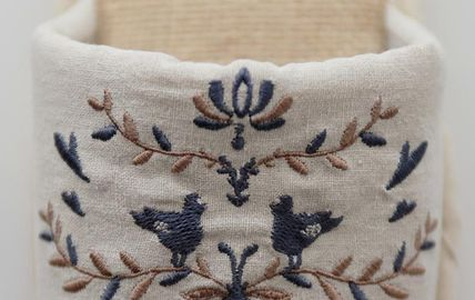 DECO VIEW ライフスタイルその他 【DECO VIEW】 Natural Embroidery slippers(7)