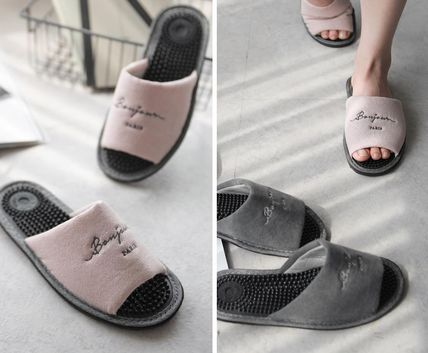 DECO VIEW ライフスタイルその他 【DECO VIEW】 Washing typo embroidery acupressure slippers(3)