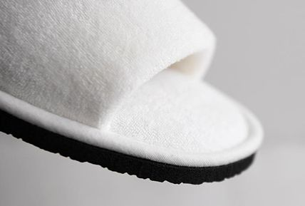 DECO VIEW ライフスタイルその他 【DECO VIEW】 Modern Lettering Embroidery Towel slippers(5)