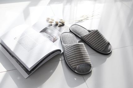 DECO VIEW ライフスタイルその他 【DECO VIEW】 Sandy Stripe slippers