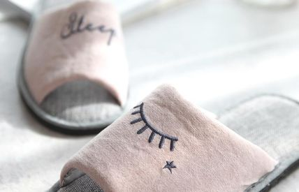 DECO VIEW ライフスタイルその他 【DECO VIEW】 Embroidery slip slippers(2)