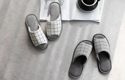 DECO VIEW ライフスタイルその他 【DECO VIEW】 Basic check slippers