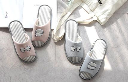 DECO VIEW ライフスタイルその他 【DECO VIEW】 Hello eyes embroidery slippers