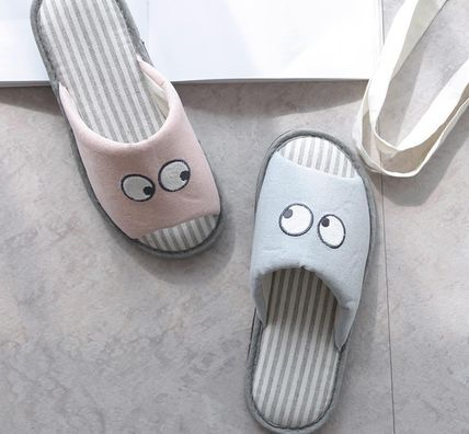 DECO VIEW ライフスタイルその他 【DECO VIEW】 Hello eyes embroidery slippers(2)