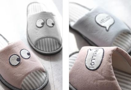 DECO VIEW ライフスタイルその他 【DECO VIEW】 Hello eyes embroidery slippers(3)