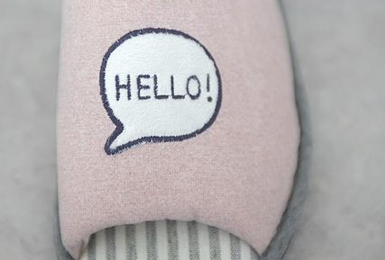 DECO VIEW ライフスタイルその他 【DECO VIEW】 Hello eyes embroidery slippers(5)