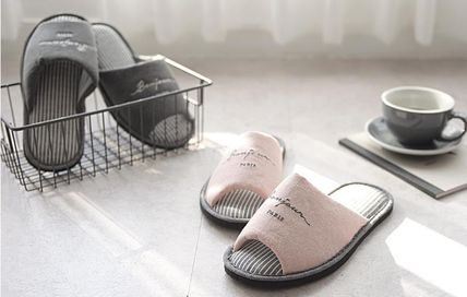 DECO VIEW ライフスタイルその他 【DECO VIEW】 Washing typo embroidery slippers