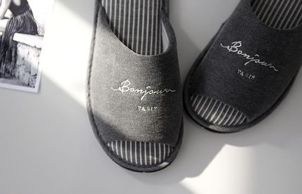 DECO VIEW ライフスタイルその他 【DECO VIEW】 Washing typo embroidery slippers(3)