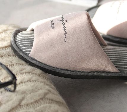 DECO VIEW ライフスタイルその他 【DECO VIEW】 Washing typo embroidery slippers(4)