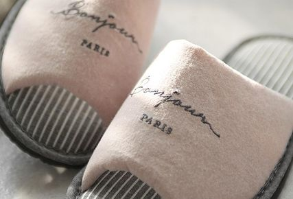 DECO VIEW ライフスタイルその他 【DECO VIEW】 Washing typo embroidery slippers(5)