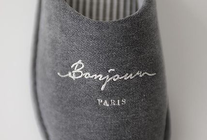 DECO VIEW ライフスタイルその他 【DECO VIEW】 Washing typo embroidery slippers(6)