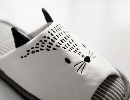 DECO VIEW ライフスタイルその他 【DECO VIEW】 Meow embroidery slippers(4)