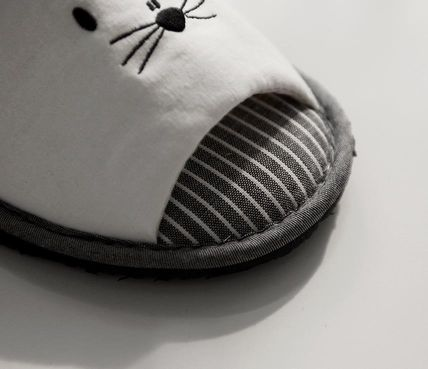 DECO VIEW ライフスタイルその他 【DECO VIEW】 Meow embroidery slippers(6)