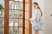 DECO VIEW(デコヴュー) エコバッグ 【DECO VIEW】 Blue Toile Eco Bag