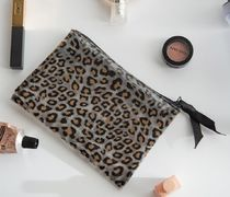 DECO VIEW(デコヴュー) メイクポーチ 【DECO VIEW】 Transparent Leopard Flat Pouch