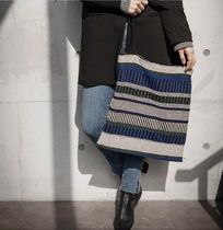 DECO VIEW(デコヴュー) エコバッグ 【DECO VIEW】 Modern stripe knit eco bag