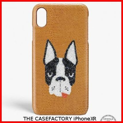 THE CASE FACTORY スマホケース・テックアクセサリー 関送込☆THE CASEFACTORY☆IPHONE XR SWAROVSKI DOG