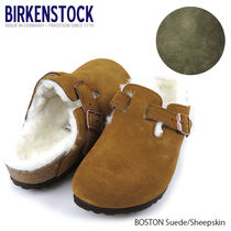 BIRKENSTOCK Boston Suede/Sheepskin-ボストン サンダル