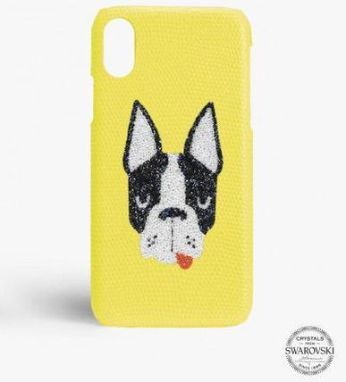 THE CASE FACTORY スマホケース・テックアクセサリー 関送込☆THE CASEFACTORY☆IPHONE XS MAX SWAROVSKI DOG(2)