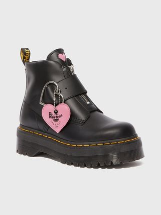 2019SSコラボ Dr Martens x LAZY OAF BUCKLE BOOT★ハート★厚底
