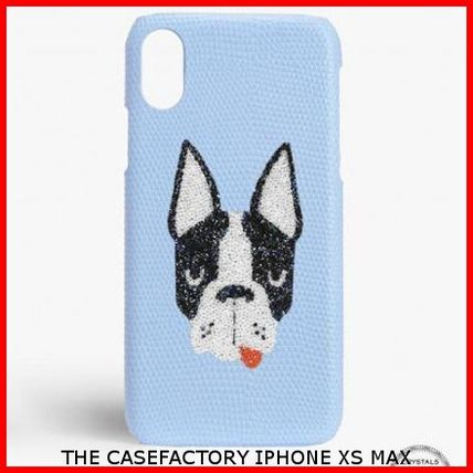 THE CASE FACTORY スマホケース・テックアクセサリー 関送込☆THE CASEFACTORY☆IPHONE XS MAX SWAROVSKI DOG