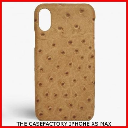 THE CASE FACTORY スマホケース・テックアクセサリー 関送込☆THE CASEFACTORY☆IPHONE XS MAX OSTRICH CAMEL