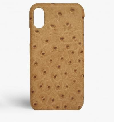 THE CASE FACTORY スマホケース・テックアクセサリー 関送込☆THE CASEFACTORY☆IPHONE XS MAX OSTRICH CAMEL(2)