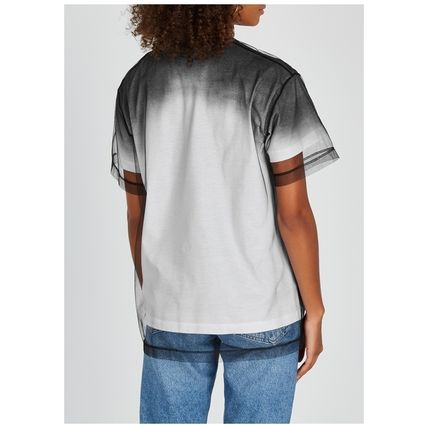 N21 numero ventuno Tシャツ・カットソー N21ヌメロヴェントゥーノ Tulle-layered printed cotton T-shirt(3)