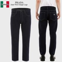 Prada jeans with triangle logo