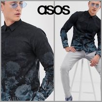 【ASOS】Twisted Tailor*花柄*スーパースキニーフィット*シャツ