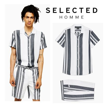 TOPMAN セットアップ 【SELECTED HOMME】国内発送★ ストライプ セットアップ