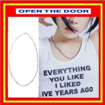 [OPEN THE DOOR]    thin clip chain necklace  / 追跡付