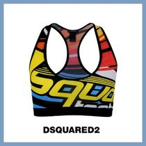 【D SQUARED2】Women's Multi-graphics sports top★追跡付
