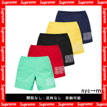 即納国内発送 supreme Logo Applique Water Short 19ss シュプ