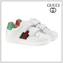 GUCCI CHILDREN☆ACE LEATHER SNEAKERS WITH WEB DETAIL 新作