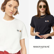 【MAISON KITSUNE】Double Fox Head Patch S/S Tシャツ
