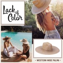 lack of color(ラックオブカラー) ハット 国内発送 ★.. Western Wide Palma ..★