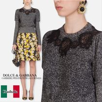 Dolce gabbana pullover with lace inserts