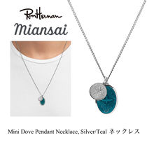 ジャスティン愛用 MIANSAI Mini Dove Necklace, Silver /Teal