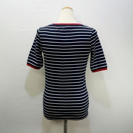 Tommy Hilfiger Tシャツ・カットソー TOMMY HILFIGER トミヒル リンガー ボーダー Tシャツ 紺 (9419)(4)