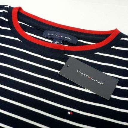 Tommy Hilfiger Tシャツ・カットソー TOMMY HILFIGER トミヒル リンガー ボーダー Tシャツ 紺 (9419)(5)