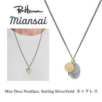 ジャスティン愛用 MIANSAI Mini Dove Necklace, Silver/Gold