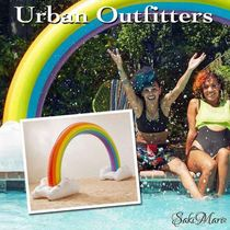 ★UO Urban Outfitters  Rainbow Pool Float レインボー浮き輪★