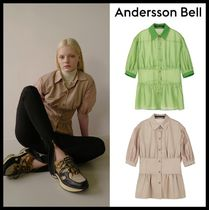 関税込 ANDERSSON BELL★STELLA SHORT SLEEVED FLAIR SHIRT★2色