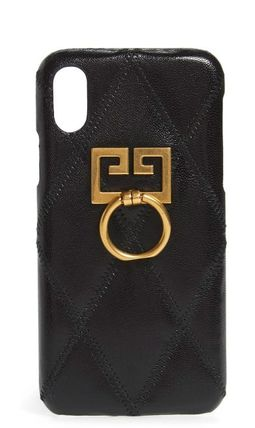 GIVENCHY スマホケース・テックアクセサリー [GIVENCHY] セール! ジバンシィ Leather iPhone 7/8 Case
