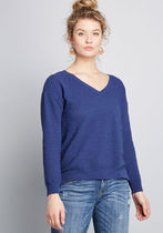 Pointelle as Well V-Neck Sweater