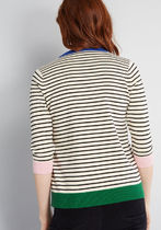 Well-Placed Pep Striped Sweater