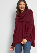 A Cozy Touch Sweater in Burgundy