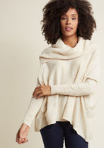 A Cozy Touch Sweater in French Vanilla