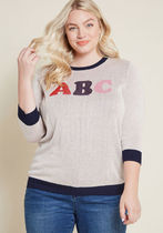 My Letter Half Knit Sweater
